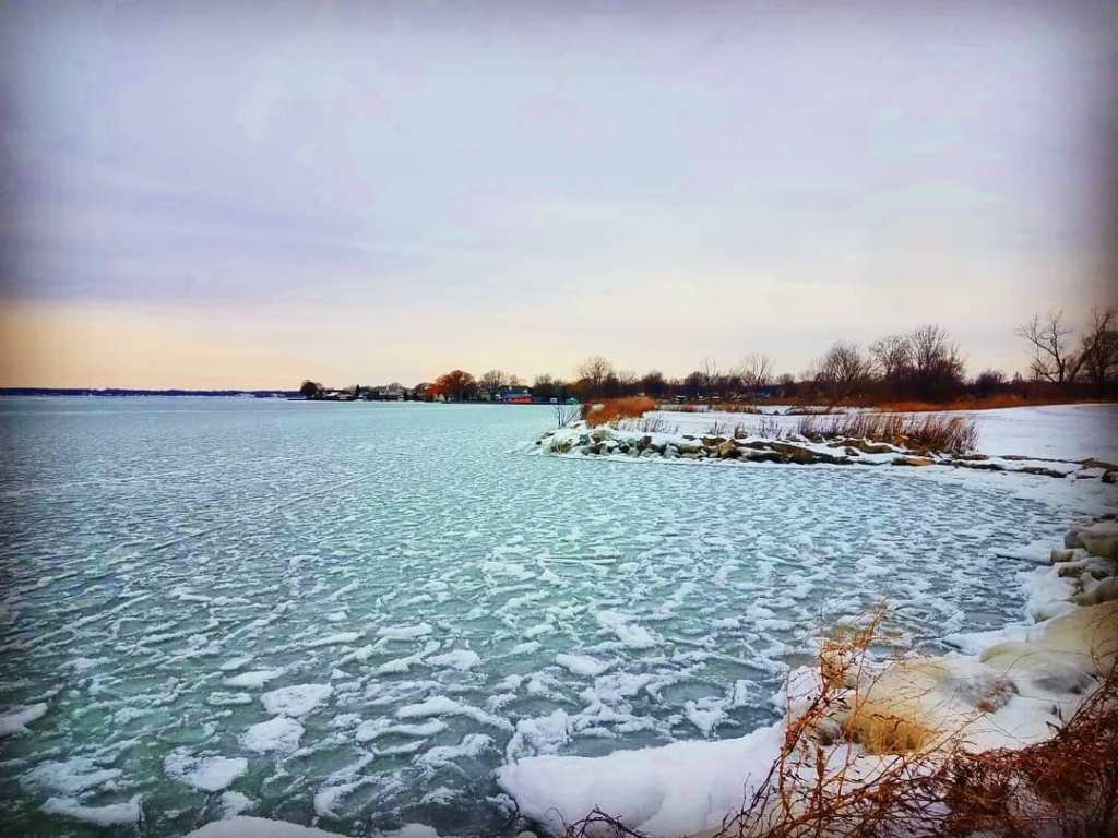 Landscape photo of Lake St.Clair in February 2020.
