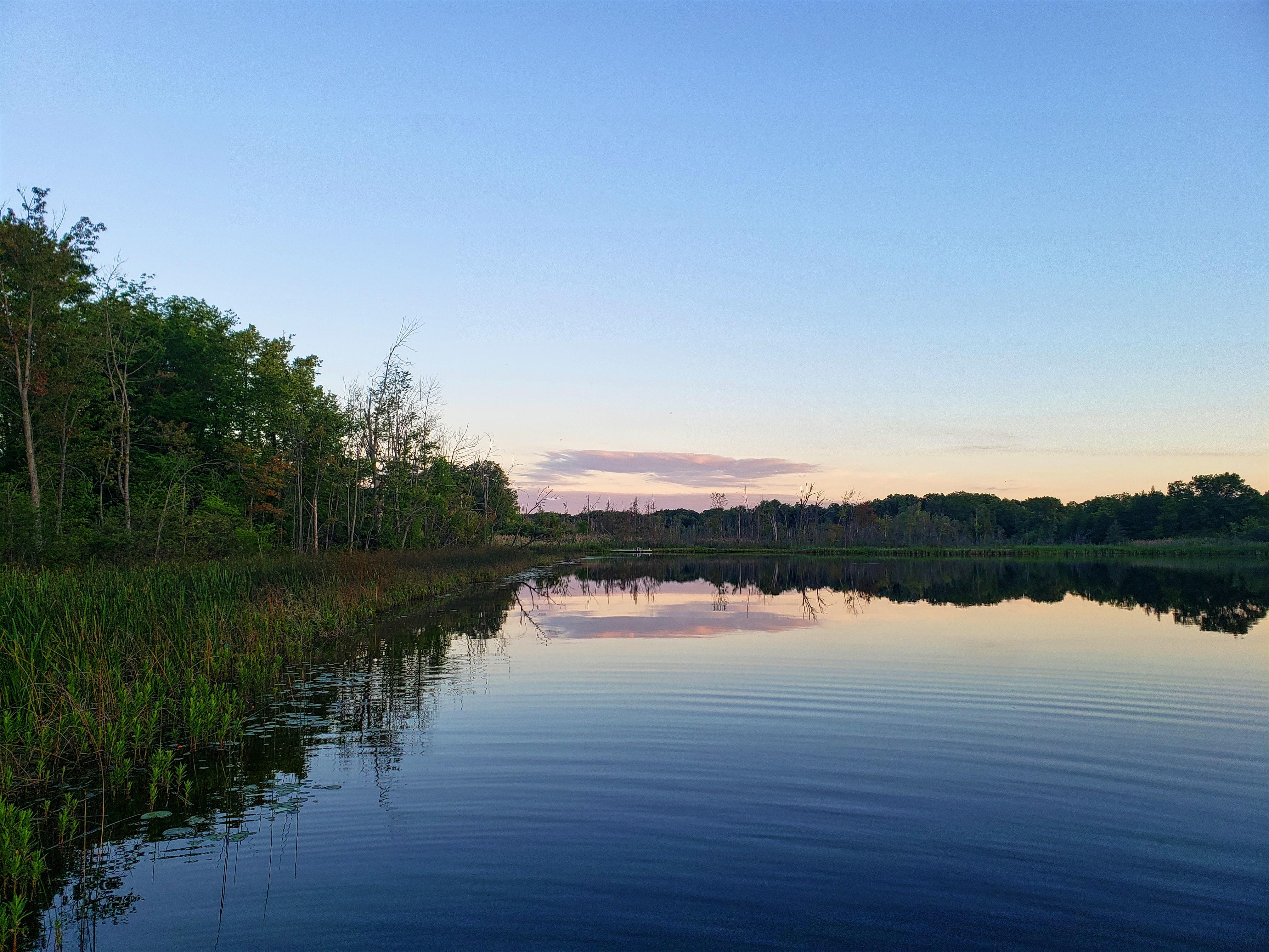 Draper Twin Lake at sunrise.
